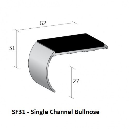 SF31 Single Channel Bullnose