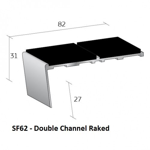 SF62 Double Channel Raked