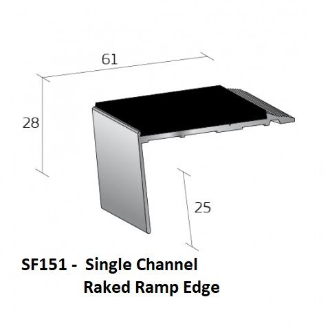 SF151 Single Channel Raked Ramp Edge