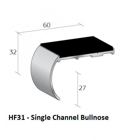 HF31 Single Channel Bullnose